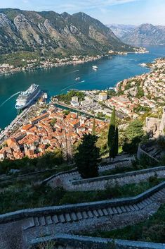 Climbing up the city walls to Kotor Fortress is well worth the effort. You will be rewarded with amazing views of Kotor and the beautiful Kotor Bay! #Kotor #BayOfKotor #Hiking #Montenegro #AncientFortress Montenegro Kotor, Montenegro Travel, Travel Plan, Gap Year, Summer Travel, Far Away, World Heritage Sites, Nice View, Trip Planning