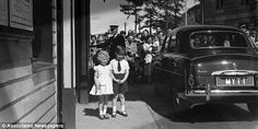 Princess Anne (left) and Prince Charles (right) in Aberdeenshire, Scotland as children