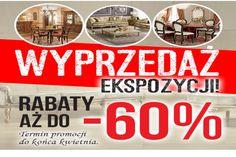 Uwaga - okazja, tylko do końca kwietnia trwa wyprzedaż mebli z ekspozycji w salonie RAD-POL. Rabaty nawet do - 60% http://www.mega-meble.pl/promocja-309 Promocja trwa do 2016-04-30
