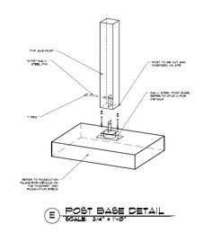 Timber Frame Post to Concrete Connection -  A post to concrete or masonry construction detail using a raised steel knife plate. - http://timberframehq.com/timber-to-concrete-detail-using-a-steel-knife-plate-and-joinery/