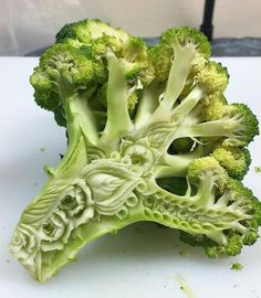 Broccoli Carving