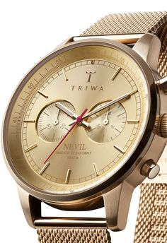 Triwa Nevil Gold Watch | Free Worldwide Shipping from Watchismo