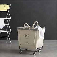 Steele® Square Canvas Bin I Crate and Barrel