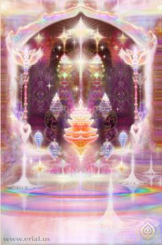 Oneness Of All is a web site devoted to messages of love and light channeled through Marilyn from the Arcturians; ascended beings of Arcturus who have lovingly chosen to help the people of earth at this momentous time of dimensional energy shift. New Earth, Futuristic Architecture, Fantasy Landscape, Visionary Art, Psychedelic Art, Buddha, Celestial, Fantasy World, Fractal Art