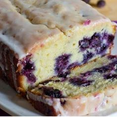 Homemade Lemon Blueberry Bread Recipe - I want to try this with raspberry