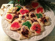 My holiday tradition...making my Grandmother's sand tarts. Simple and festive.