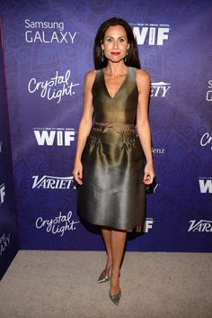 Pin for Later: Stars Kick Off the Emmy Celebrations!  Minnie Driver dropped by Variety's party on Saturday.