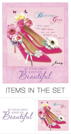 """birthday girl, give her the right shoes"" by smile2528 ❤ liked on Polyvore featuring art"