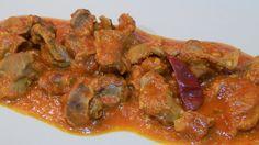 Cómo hacer mollejas de pollo en salsa
