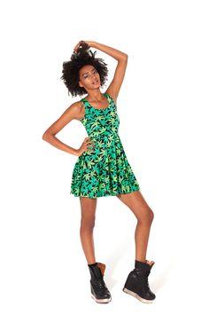 Woah Dude Reversible Skater Dress by Black Milk Clothing