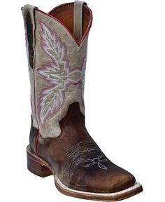 LOVE these!!! Dan Post Flagger Cowgirl Boots - Square Toe