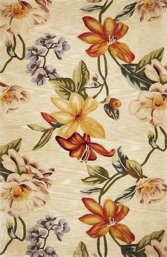 CLEARANCE Area Rug, Beige Tropical Floral Carpet 4X6 66126 - http://www.ebay.com/itm/CLEARANCE-Area-Rug-Beige-Tropical-Floral-Carpet-4X6-66126-/291655678361 #arearugs