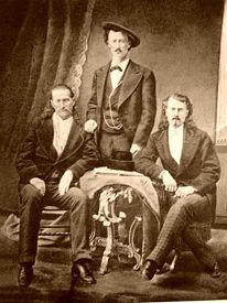 Bill Hickok, Texas Jack Omohundro, and Buffalo Bill.