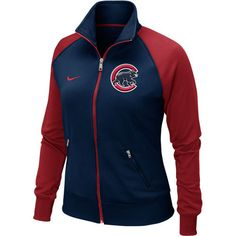 Chicago Cubs Women's Navy Track Jacket by Nike at SportsWorldChicago.com