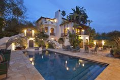 Luxury Home; Swimming Pool; Spanish Colonial; Los Feliz, CA;  8,184 Sq ft.; 0.95 Acres; 7 Bed, 8.5 Bath; MLS#: 12-581461; http://www.losangeles.evusa.com/31/losangeles/E-0012UV/Los-Angeles/2400-Inverness-Avenue