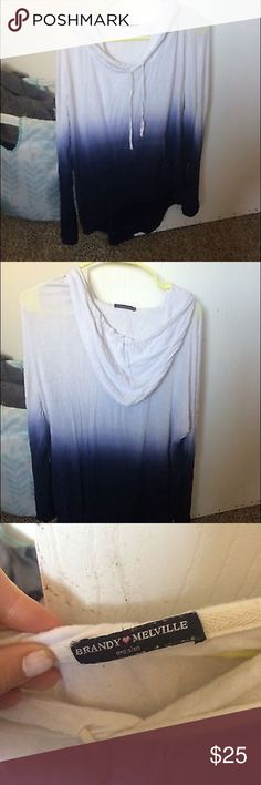 Brandy Melville slouchy ombré sweatshirt Perfect condition and gently used. Super comfortable and perfect to wear with any bottoms. Brandy Melville Other