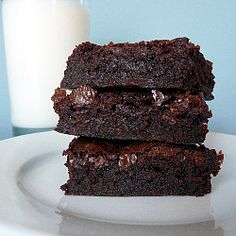 "Previous pinner said, ""The famed brownie recipe from Baked NYC. Every bit as delicious as Oprah and America's Test Kitchens claim it to be!"" I'm going to have to check these out soon! 