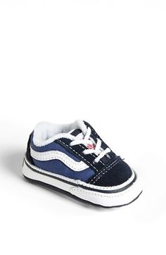 Vans 'Old Skool' Crib Shoe (Baby) available at #Nordstrom