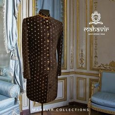 To explore our exclusive range visit our store in Chandni Chowk or inbox to book an appointment with our Fashion Consultant. Wedding Wear, Dream Wedding, Gents Kurta, Mens Ethnic Wear, Mens Sherwani, Groom Wear, Cool Designs, High Neck Dress, Menswear