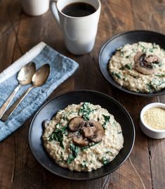 My favourite savoury steel cut oats.