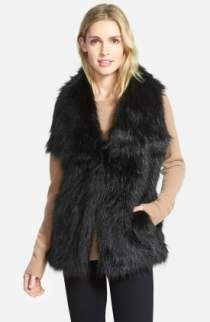 8370aa4cea9 Free shipping and returns on Love Token Long Genuine Rabbit Fur Vest at  Nordstrom.com