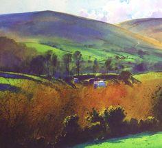 "Richard Thorn Moorland Vale.  (watercolour)  18"" x 18"""