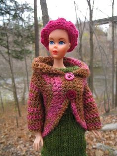 I don't usually crochet Barbie clothes, but this design really worked out well. I hadn't thought of writing this up, but someone saw the sw...