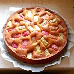 Sweet and sour - you just have to love the #rhubarb cake