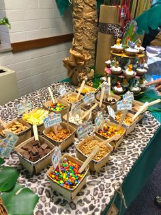 "Trail Mix Buffet-""It's a Jungle Out There"" themed party"