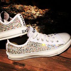 Glittery sneaks...Instagram photo by @thosecoolshoes via ink361.com