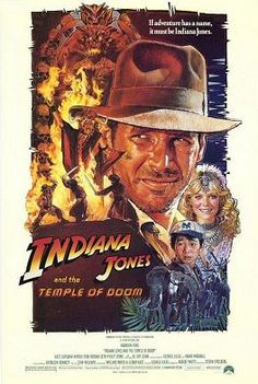 Indiana Jones and the Temple of Doom - Steven Spielberg. Indiana Jones e il tempio maledetto. It is the second film in the Indiana Jones franchise and a prequel to Raiders of the Lost Ark. 80s Movie Posters, Classic Movie Posters, Movie Poster Art, Classic 80s Movies, Old Movies, Vintage Movies, Movies Of The 80's, Film Gif, Film Serie