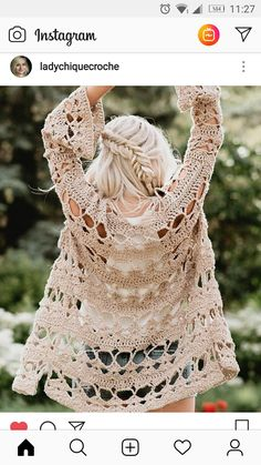 Charming Bohemian Lifestyle Ideas for Boho Style Crochet Coat, Crochet Jacket, Crochet Cardigan, Crochet Shawl, Crochet Clothes, Crochet Bolero Pattern, Crochet Patterns, Knit Fashion, Boho Fashion