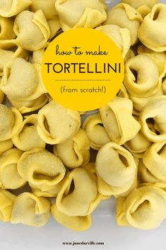 How to make tortellini from scratch: a step-by-step picture guide to show you ho. - Pasta Making - Tortellini How To Make Tortellini, Homemade Tortellini, Tortellini Pasta, Tortellini Recipes, Homemade Pasta, Pasta Recipes, Snack Recipes, Dinner Recipes, Italian Soup