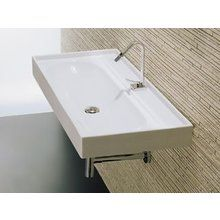master bath, LaToscana L3012 Piano Wall Mount or Above Counter Bathroom Sink with Single Faucet Hole and Built-in Overflow at FaucetDirect.com.
