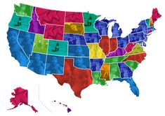 """The most popular viral video across the United States is the joyous """"JK Wedding Entrance Dance"""" It's the most-searched-for Birds Eye View Map, Most Viral Videos, Wedding Entrance, United States Map, Maps, This Is Us, Blue Prints, Map Of Usa, Map"""