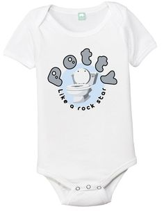 Potty like a rock star funny onsie baby toddler by FunhouseTshirts, $13.99
