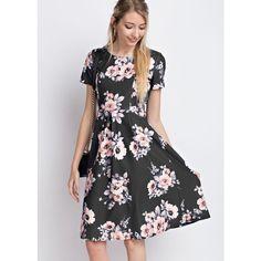 fcff572fccd Jupe de Abby Paris Floral Midi Dress ( 59) ❤ liked on Polyvore featuring  dresses