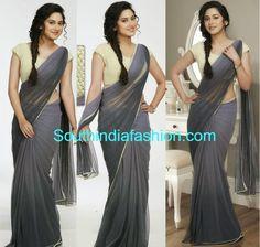 Miya in pranaah Grey Net Saree