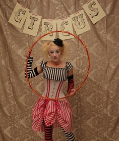 Circus Clown Corset Costume Oufit-Whole Corset Costume Outfit-MADE FOR BUYER. $280.00, via Etsy.