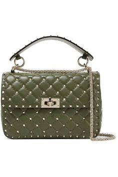 80a082cdf6ca Valentino - Valentino Garavani The Rockstud Spike quilted leather shoulder  bag