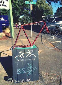 Bicicleta en las calles de Portland, Oregon.