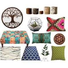 Bohemian Living Room by pterodactyl on Polyvore featuring interior, interiors, interior design, home, home decor, interior decorating, Brink & Campman, Bloomingville, CB2 and living room