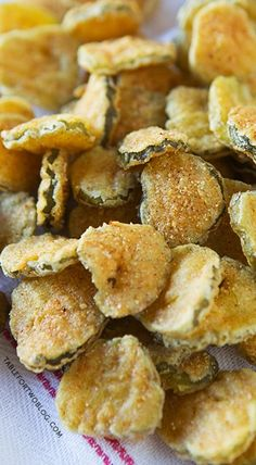 Fried Pickles. How strange, not sure how these would taste!