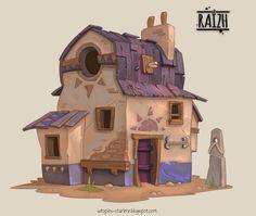 Wéreb House, Charlène Le Scanff (AKA Catell-Ruz) on ArtStation at https://www.artstation.com/artwork/Py8yZ