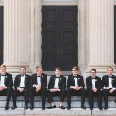 Let's hear it for the boys! We see lots of photos of the girls, but it's always fun for the guys to get dressed up for the wedding too. 🎉 • 📸 @stephanieyonce . . . . . #weddingideas #weddinginspiration #wedding #weddings #vawedding