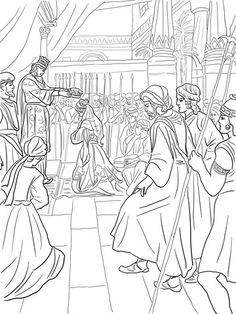 ester bible story coloring page | esther | pinterest | bible ... - Esther Bible Story Coloring Pages