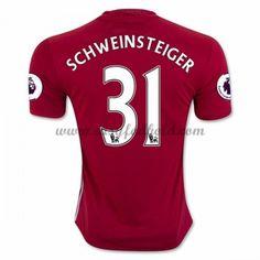 Fodboldtrøjer Premier League Manchester United 2016-17 Schweinsteiger 31 Hjemmetrøje