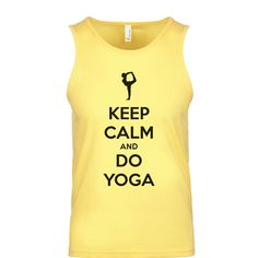 Keep Calm And Do Yoga Men's Tank