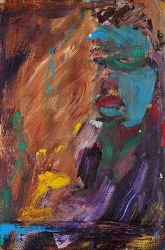 Tim Dayhuff - painting - November 2014 - acylic on fixed Internet photocopy - 8 x 10.5 in