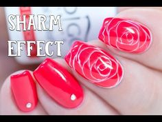 SHARM EFFECT - How to make Realistic Roses with Gel | Indigo Nails - YouTube